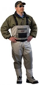 Caddis Men's Attractive 2-Tone Tauped Deluxe Breathable Stocking Foot Wader
