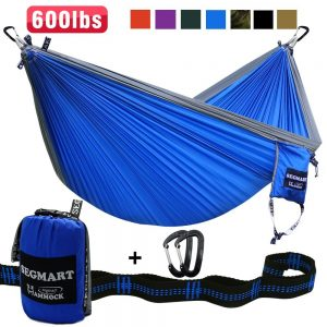SEGMART Camping Hammock- Easy Hanging Double XL Hammocks with Hammock Straps & Carabiners