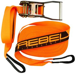 REBEL 59 FT (18m) Premium Slackline - Classic Slackline Kit for Beginner to Advanced
