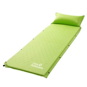 """Self Inflating Sleeping Pad with Pillow- Lightweight Camping Mat - Water Repellent Coating - Made for Hiking, Backpacking & Camping - Foam Padding Bow Up Beds- L72.8'' x H 0.98'' x W23.6"""""""